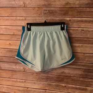 Nike tiffany-blue colored women's running shorts M
